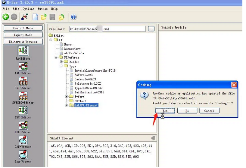 How-to-change-FA-code-with-E-SYS-4
