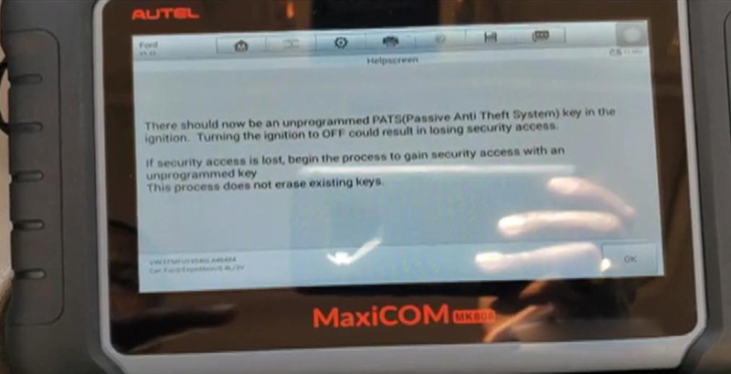 How-to-add-key-for-Ford-Expedition-by-Autel-MK808-5